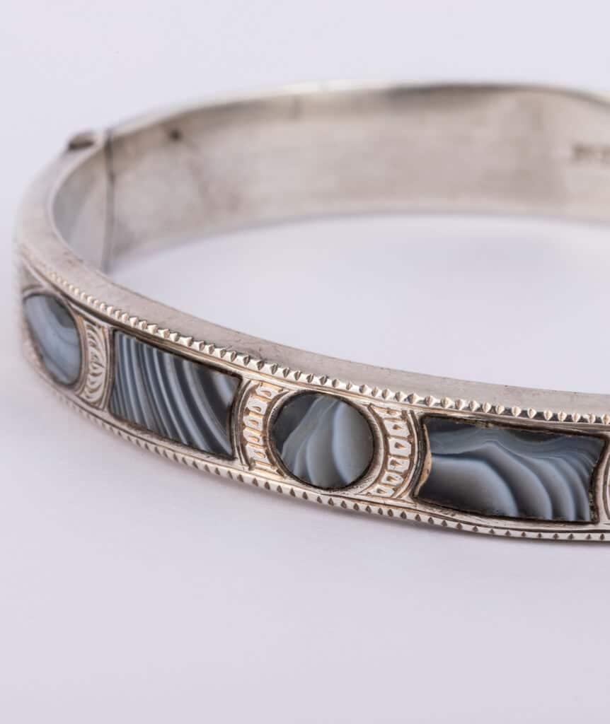 Bracelet écossais argent détail 1