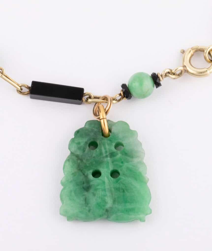 bracelet jade détail
