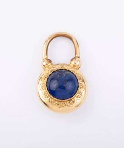 "Locket lapis-lazuli ""Santorin"" product Bijoux Anciens - Caillou Paris"