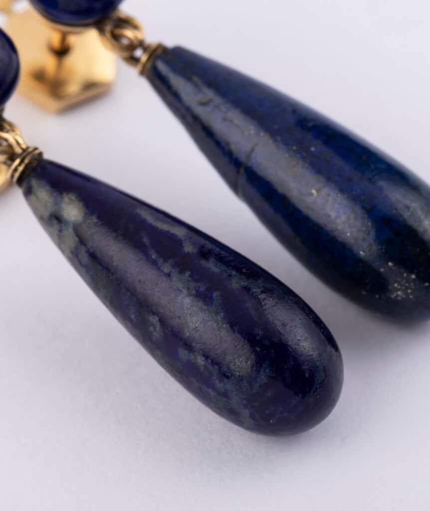 Pendants d'oreilles lapis lazuli detail