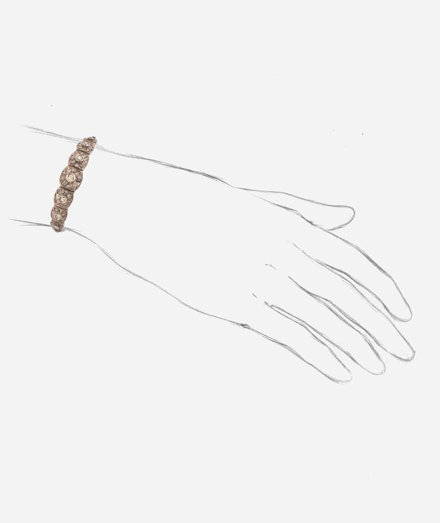Bracelet Dryade porter