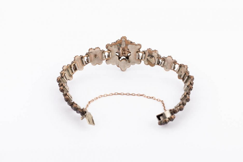 Bracelet argent grenats Dahlia dos