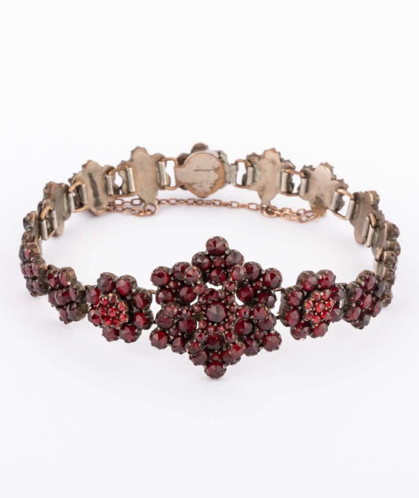 Bracelet argent grenats Dahlia