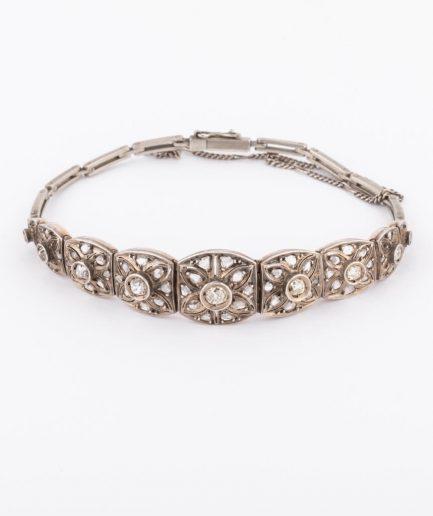 """Bracelet ancien argent """"Dryade"""" Bracelet Ancien Diamant Bijoux Anciens - Caillou Paris"""