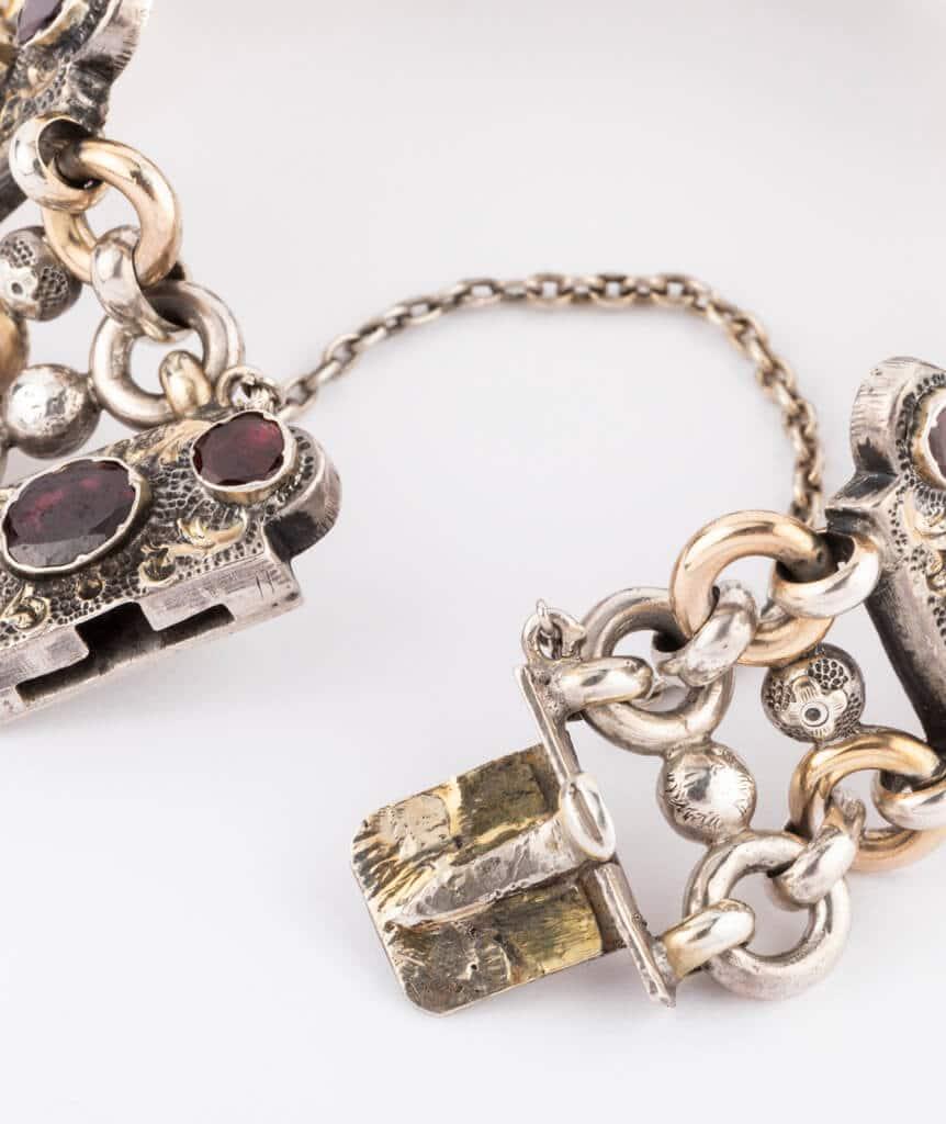 Bracelet argent Granato fermoir