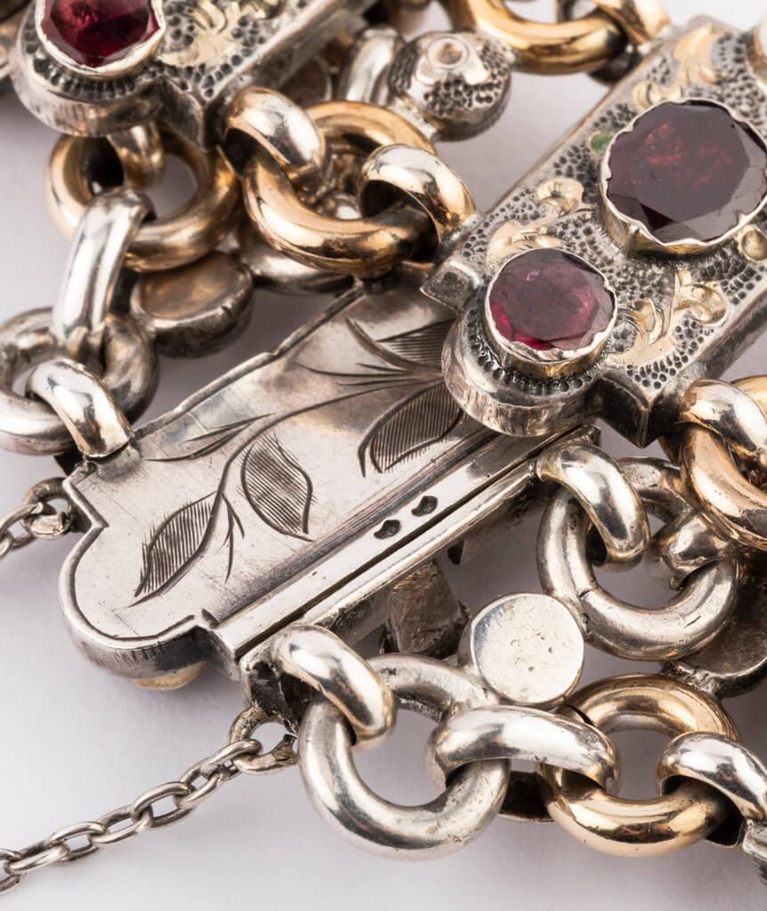 Bracelet argent Granato détail ciselure