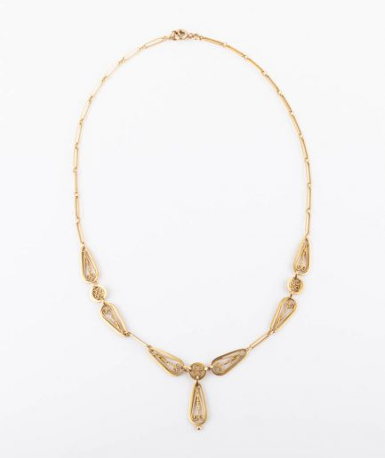 "Collier filigrane ""Filodoro"" 1900-1920 Bijoux Anciens - Caillou Paris"