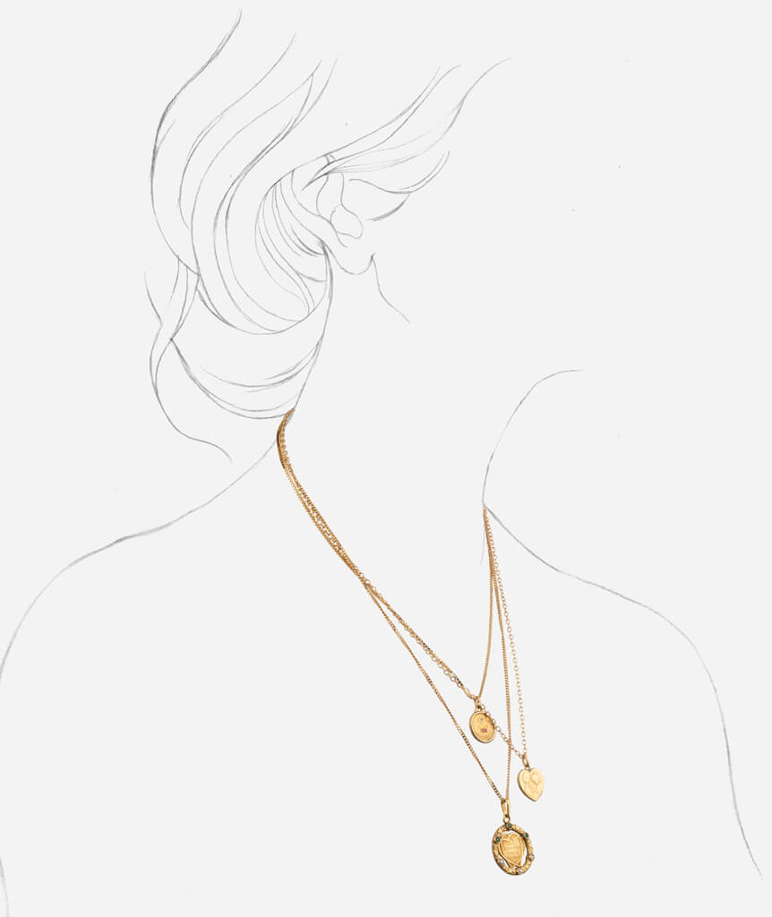 Collier double Amore porter