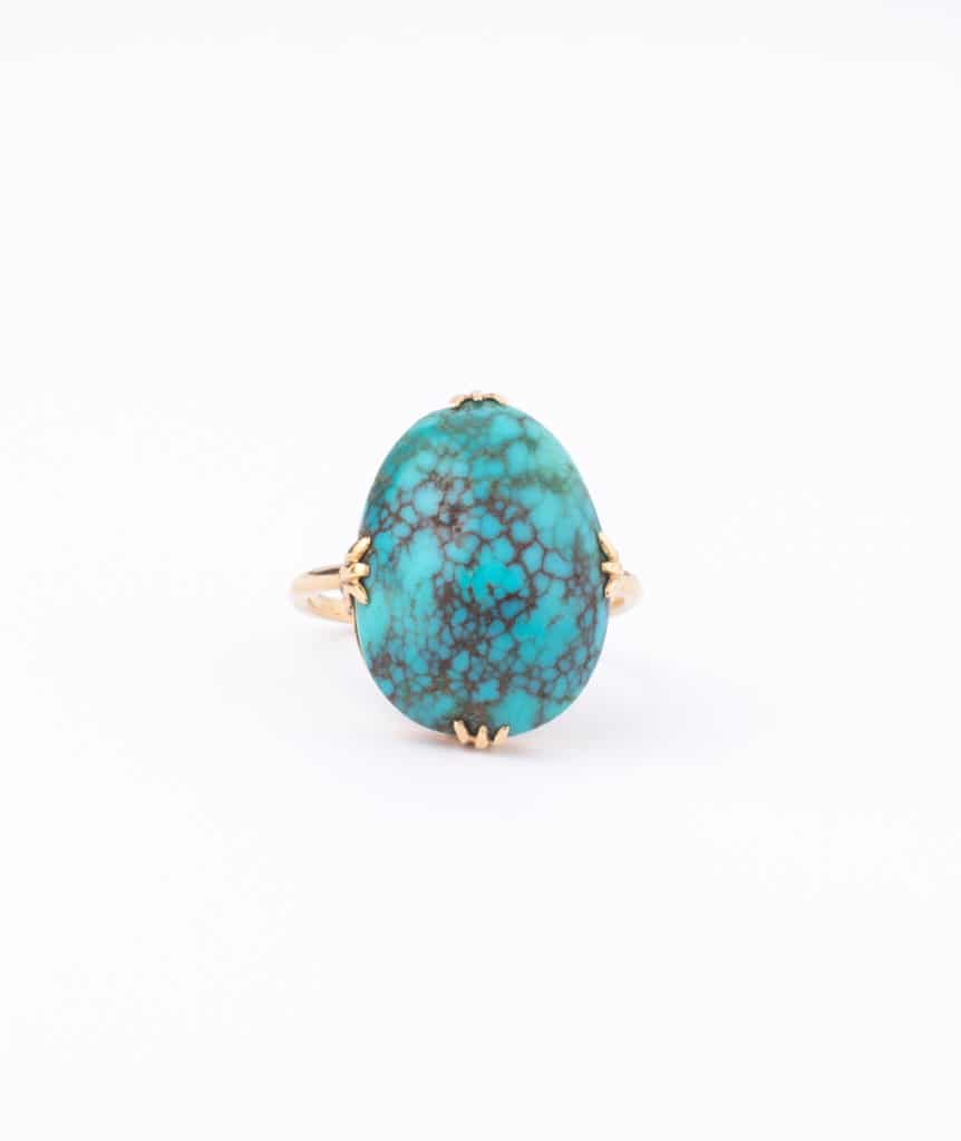 """Bague ancienne turquoise """"Tama"""""""