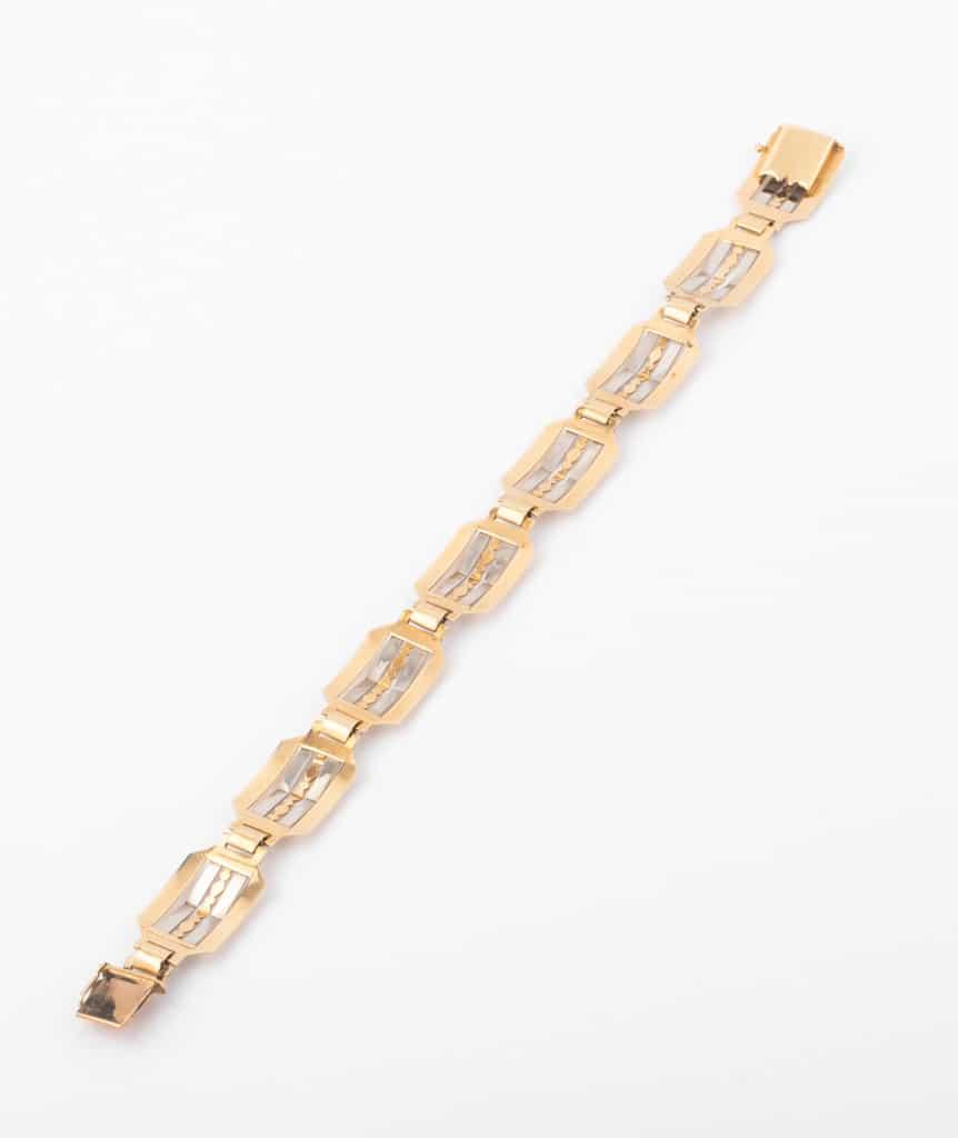 """Bracelet ancien or """"Ponni"""" dos"""