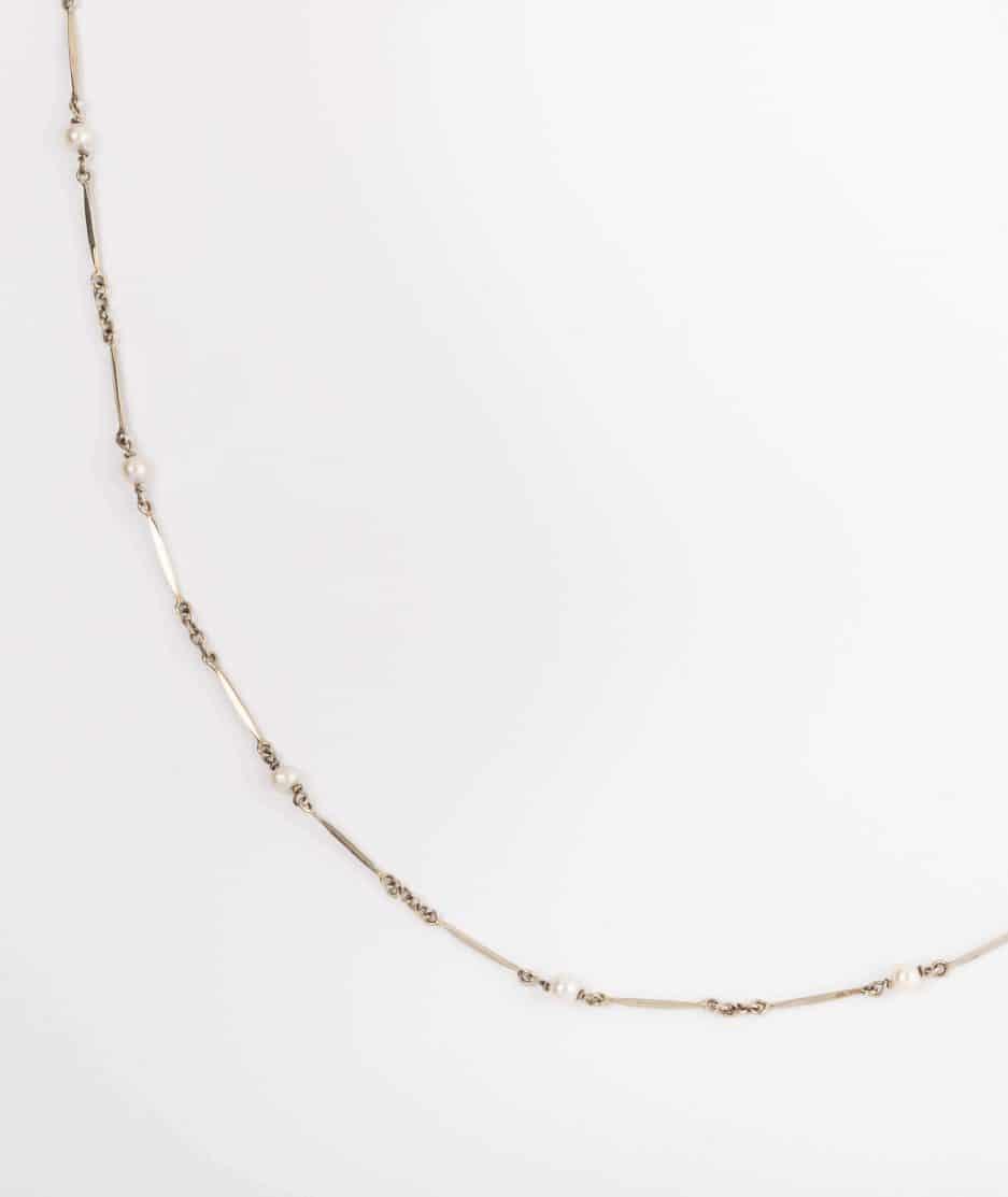 """Collier ancien perles """"Guirlande"""" détail 1"""