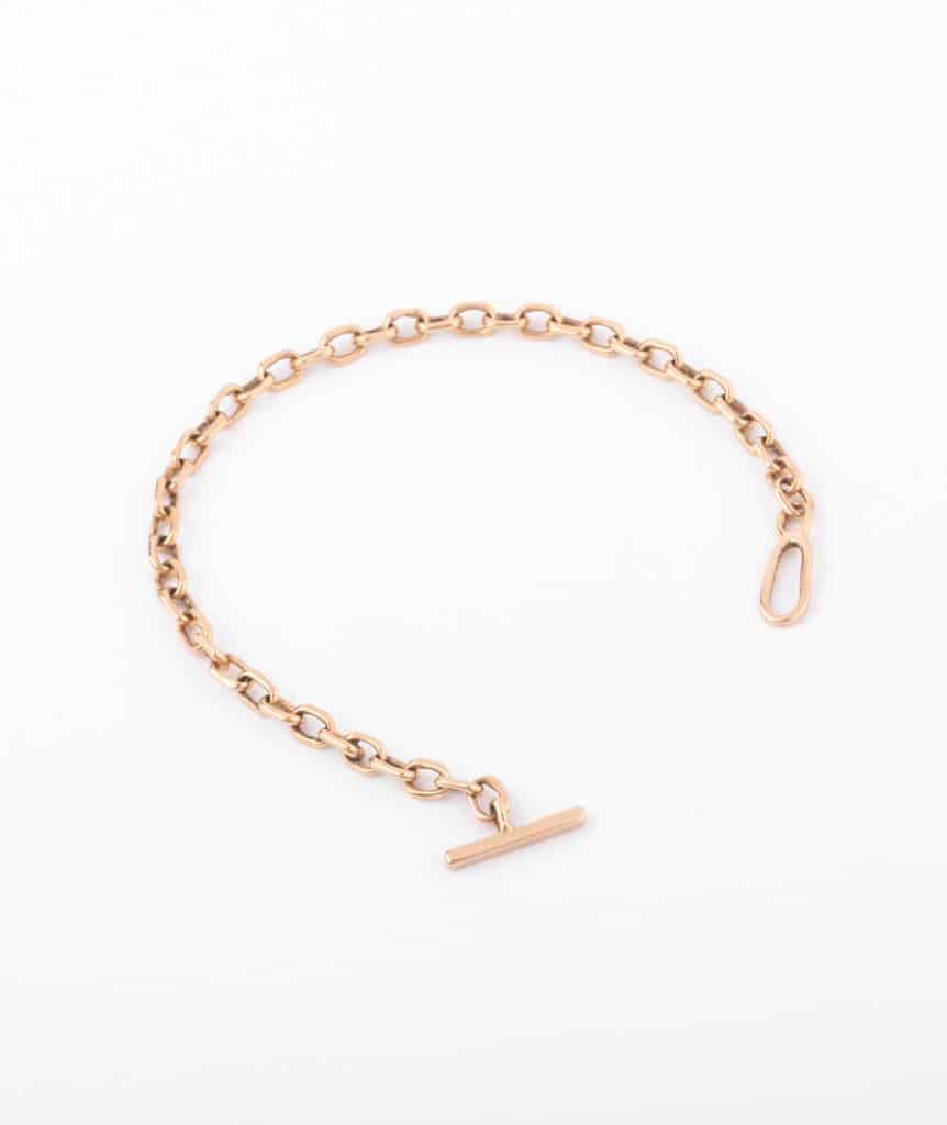 "Bracelet ancien or ""Angada"" ouvert"