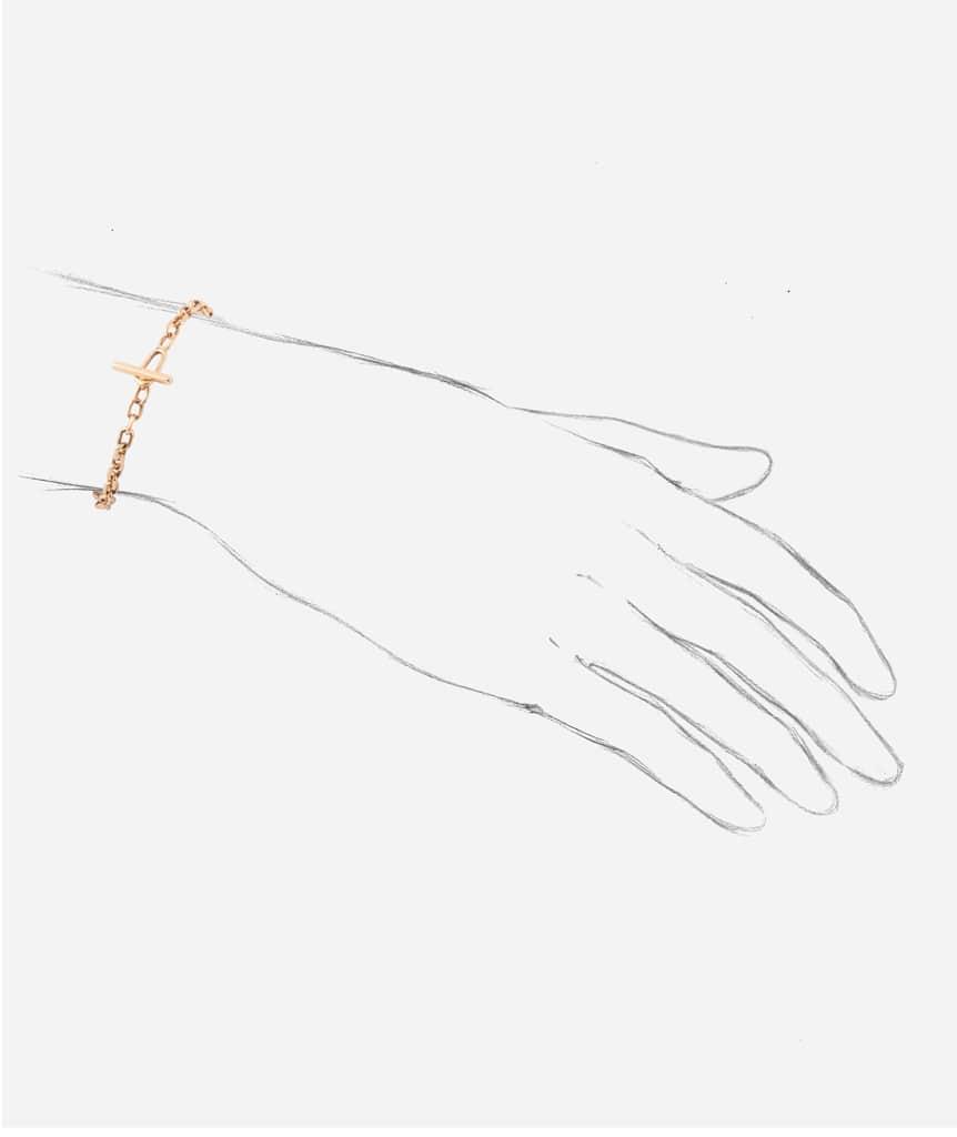 "Bracelet ancien or ""Angada"" porter"