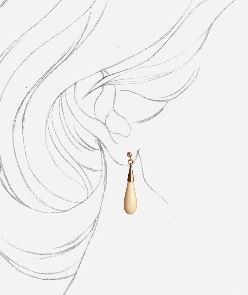 """Pendants d'oreilles Art deco """"Ivory"""" porter"""