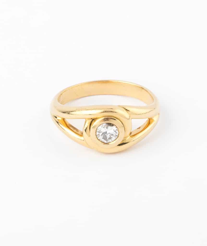 """Caillou Paris - Bague ancienne diamant """"Erena"""""""