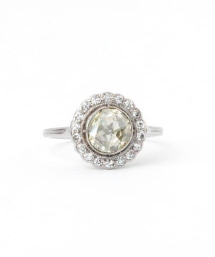 """Bague ancienne diamant """"Électre"""" product Bijoux Anciens - Caillou Paris"""