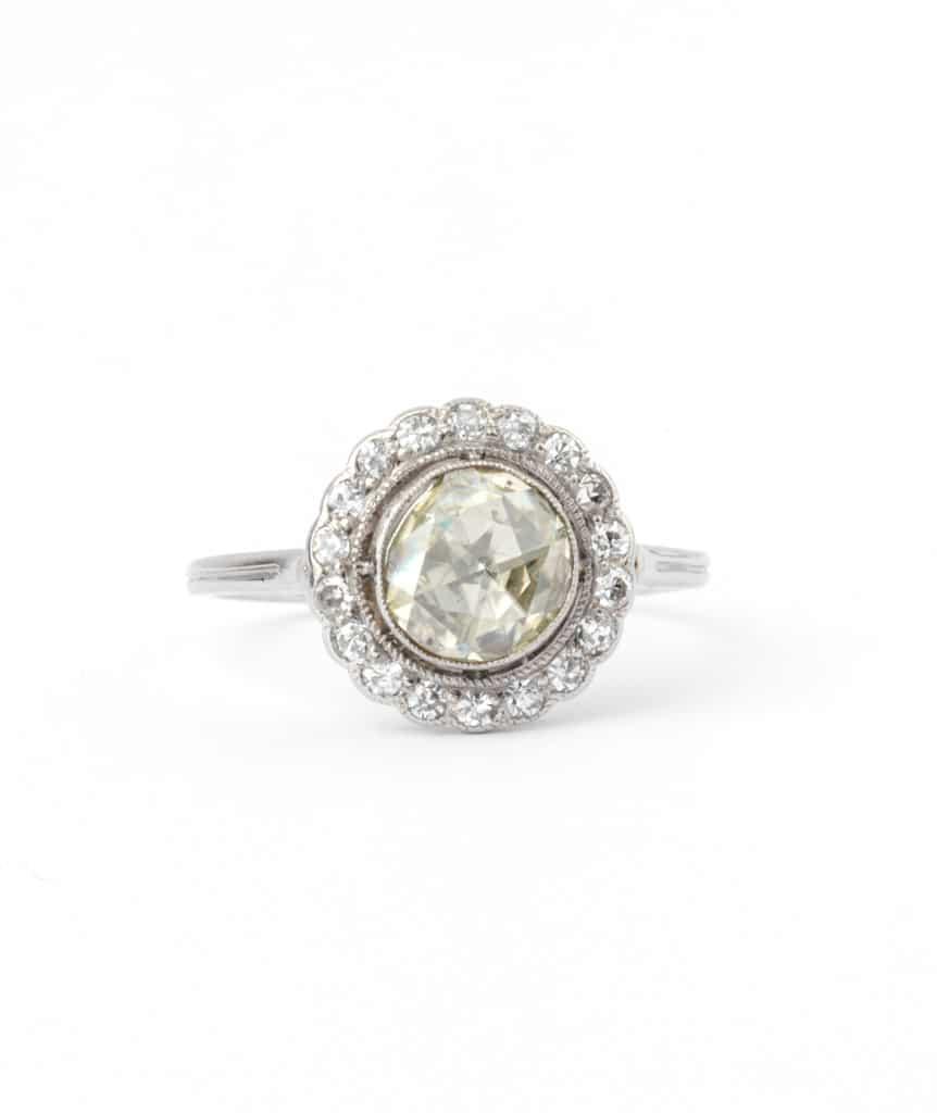 Bague ancienne diamant Electre