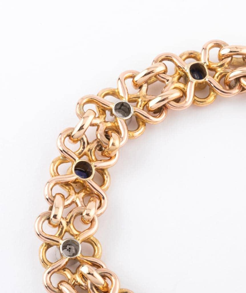"""Caillou Paris - Bracelet ancien or """"Faria"""" dos"""