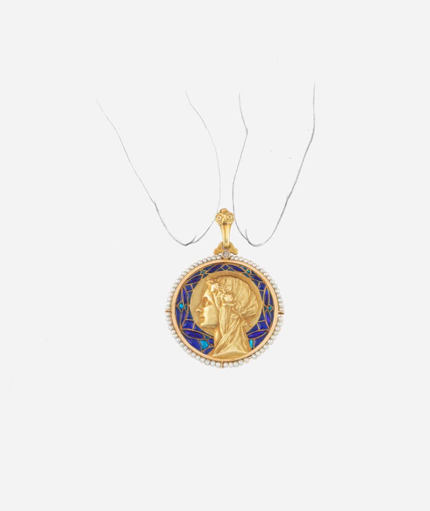 Caillou Paris - Médaille Art nouveau plique à jour