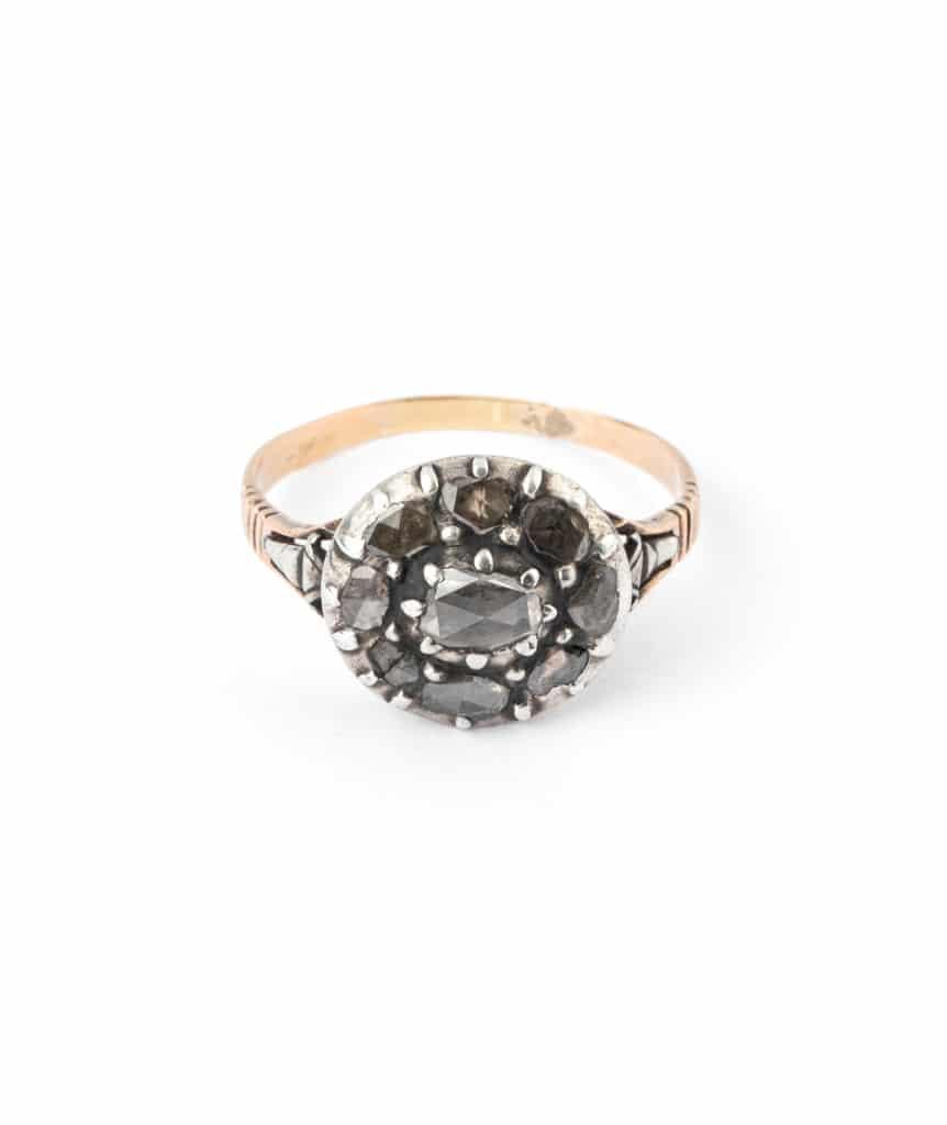 Caillou Paris - Bague ancienne diamants Aata