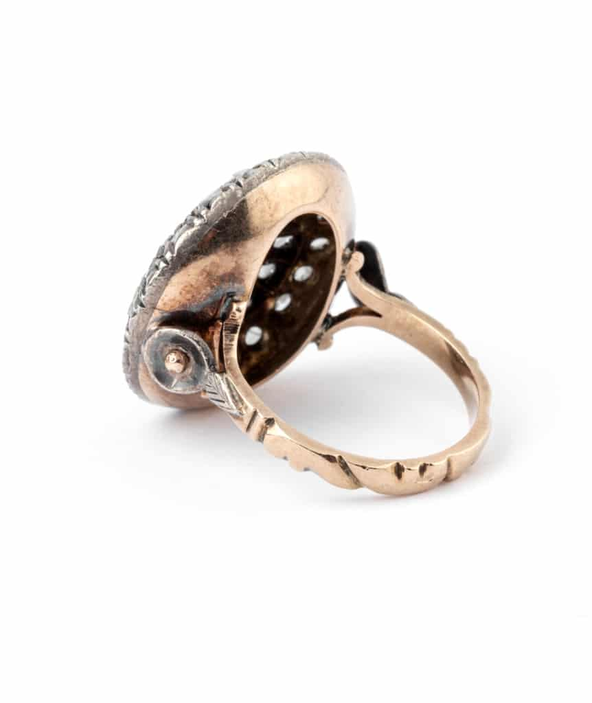 Caillou Paris - Bague ancienne diamants Rakal anneau