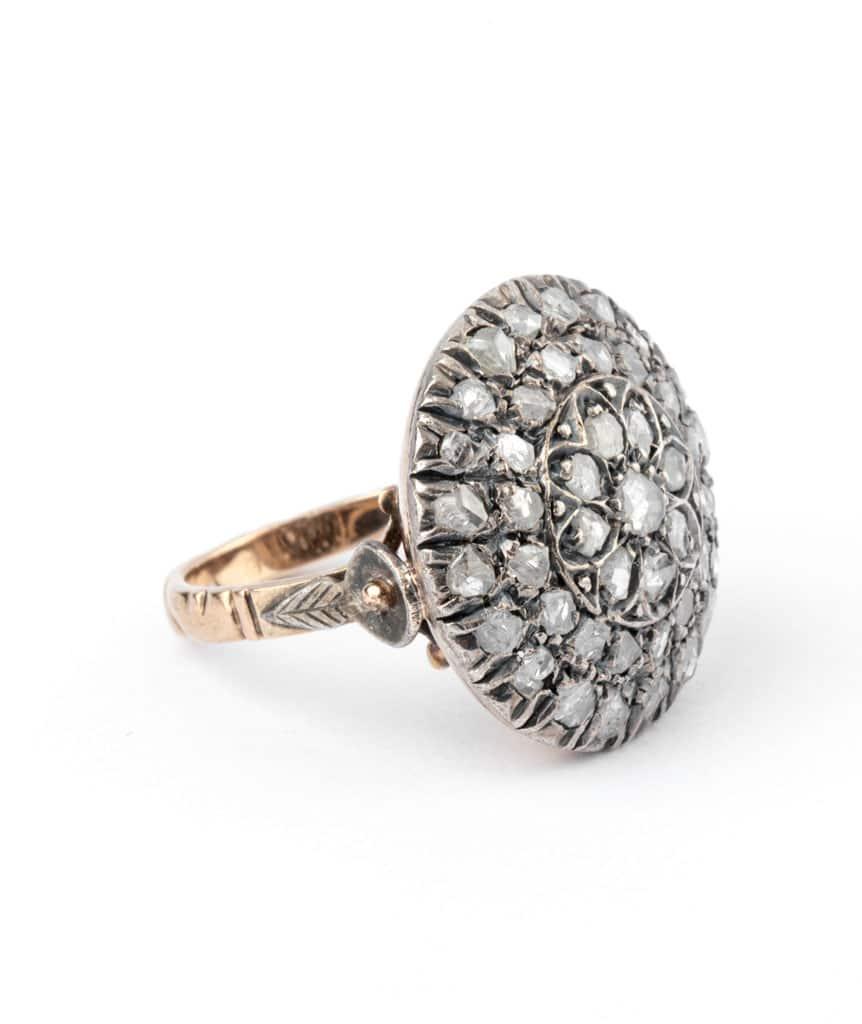 Caillou Paris - Bague ancienne diamants Rakal droite