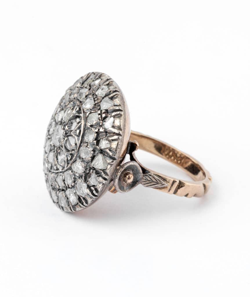 Caillou Paris - Bague ancienne diamants Rakal gauche