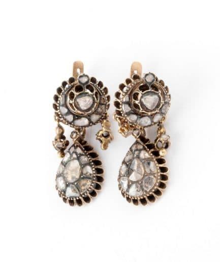 """Boucles d'oreilles anciennes diamants """"Mahéa"""" product Bijoux Anciens - Caillou Paris"""