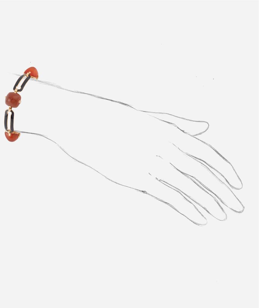 Caillou Paris - Bracelet Art deco Alani porter