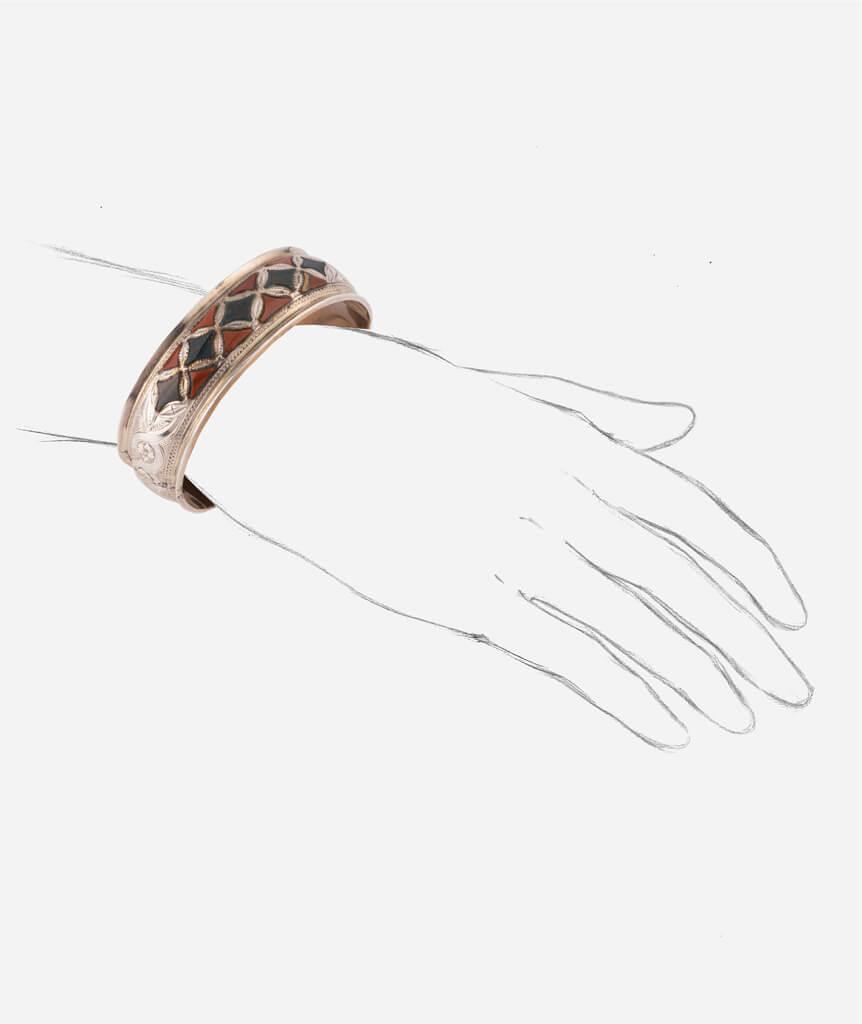 Caillou Paris - Bracelet ancien argent Blaine porter