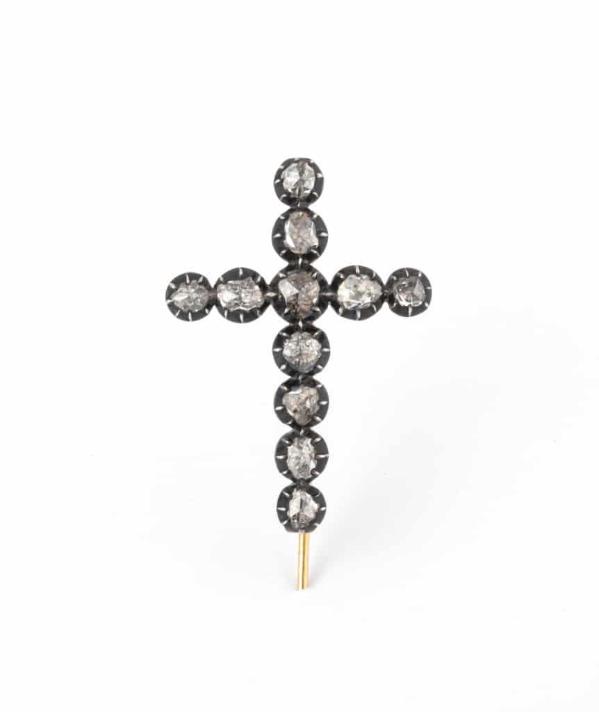 Caillou Paris - Broche croix ancienne Hira