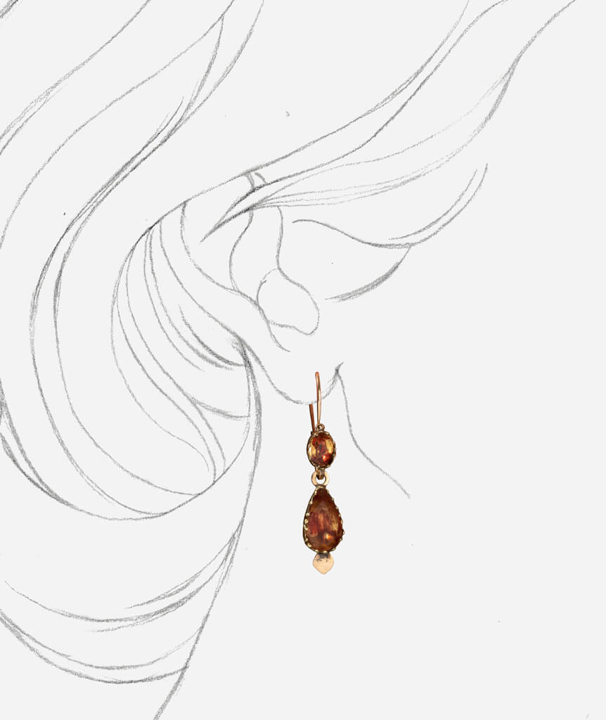 Caillou Paris - Pendants d'oreilles anciens Luana porter