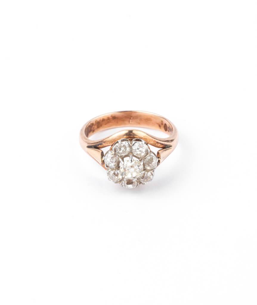 Caillou Paris - Bague ancienne diamants Hardik