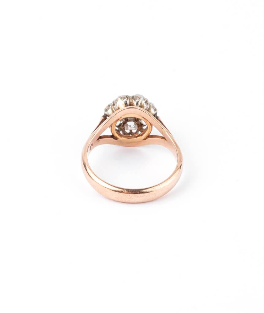 Caillou Paris - Bague ancienne diamants Hardik dos
