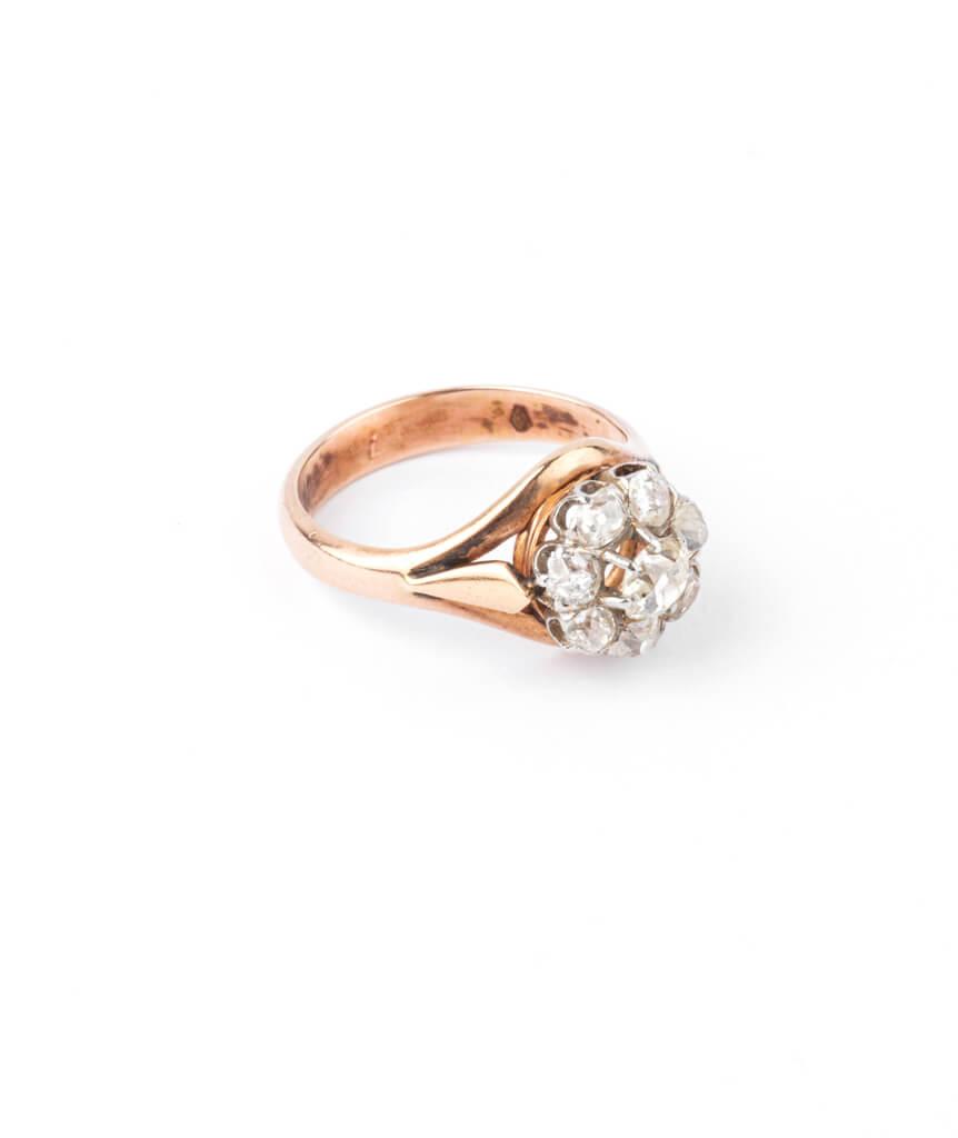Caillou Paris - Bague ancienne diamants Hardik droite