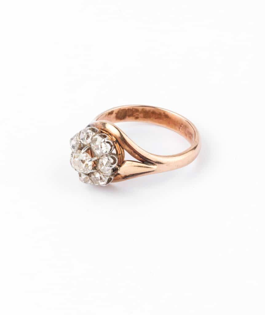 Caillou Paris - Bague ancienne diamants Hardik gauche