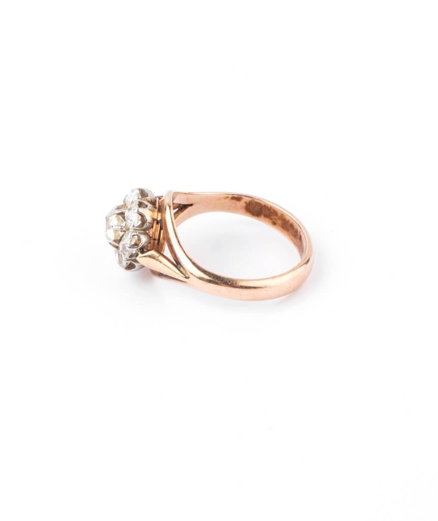 Caillou Paris - Bague ancienne diamants Hardik profil
