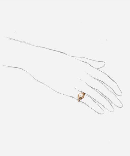 Caillou Paris - Bague ancienne perle Angi porter