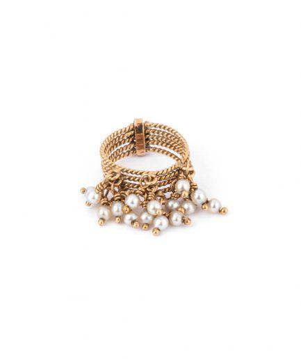"""Bague ancienne perle """"Chilali"""" Bijoux Anciens - Caillou Paris"""