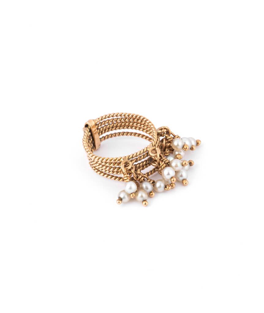 Caillou Paris - Bague ancienne perles Chilali droite