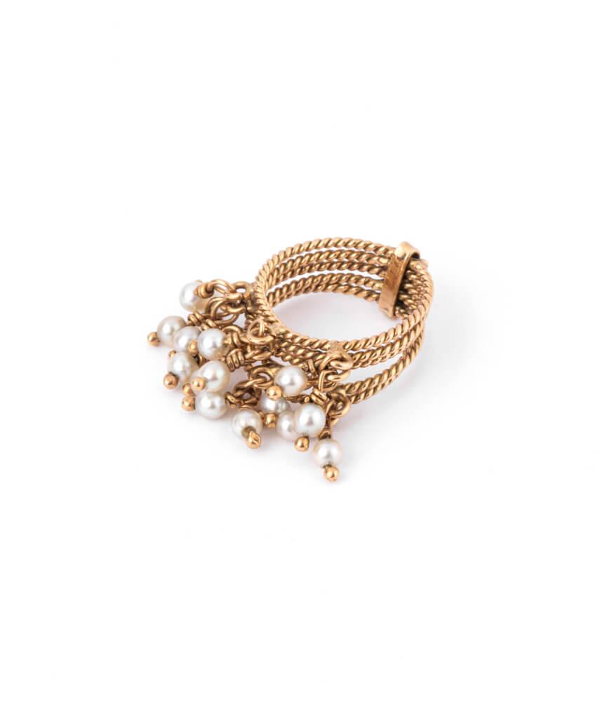 Caillou Paris - Bague ancienne perles Chilali gauche