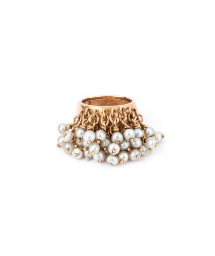 """Bague jonc ancienne perle """"Alhagi"""" Bague Ancienne 1900-1920 Bijoux Anciens - Caillou Paris"""