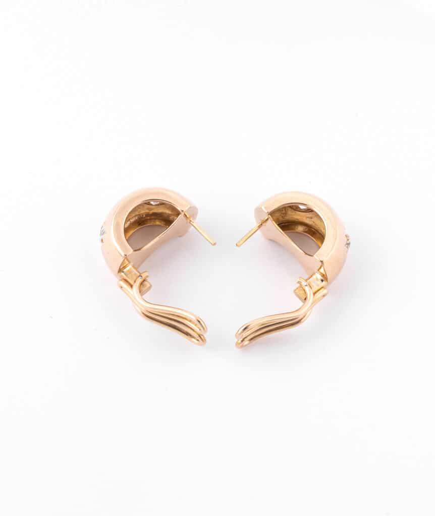 Caillou Paris - Boucles d'oreilles anciennes diamants Alohi ouvertes