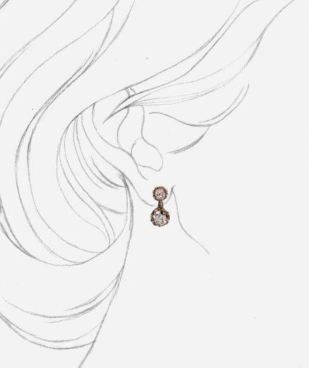 Caillou Paris - Dormeuses anciennes diamants Ruksana porter