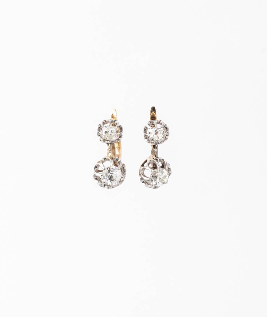 Caillou Paris - Dormeuses anciennes diamants Ruksana