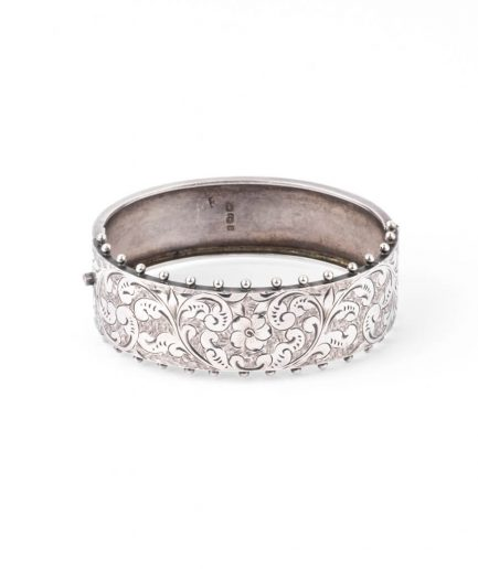"""Manchette ancienne argent """"Anirau"""" Bracelet Ancien Argent Bijoux Anciens - Caillou Paris"""