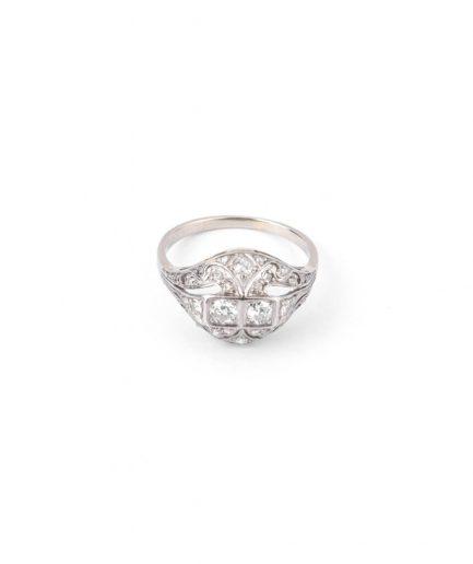 """Bague Art déco diamants """"Premendera"""" Bague Ancienne Bijoux Anciens - Caillou Paris"""