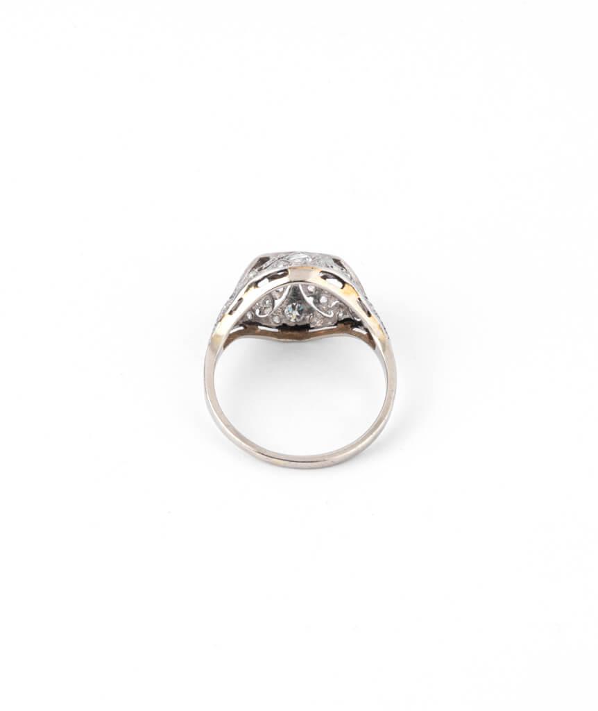 Caillou Paris - Bague Art deco diamants Premendra dos