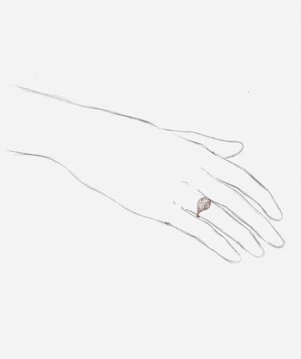Caillou Paris - Bague Art deco diamants Premendra porter