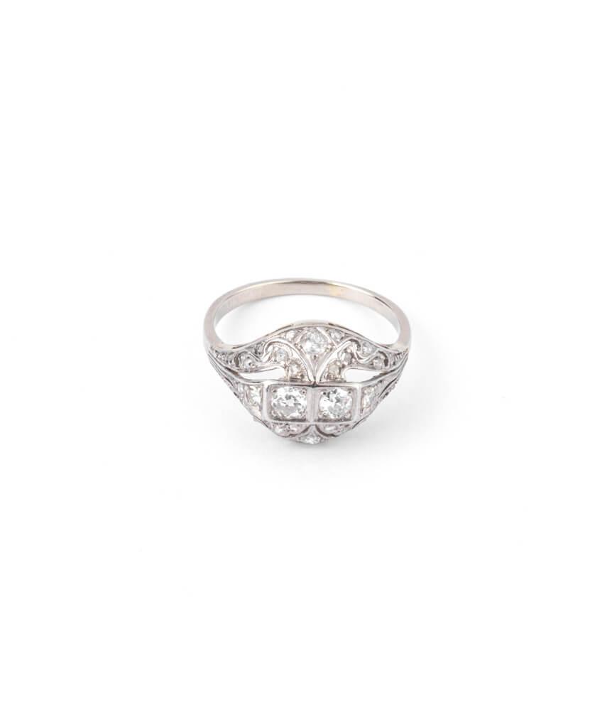 Caillou Paris - Bague Art deco diamants Premendra